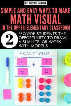 Math manipulatives aren't just for lower elementary. In this post, I share some simple ways to make math visual for upper-elementary students. 5th Grade Classroom, Fourth Grade Math, Middle School Classroom, Math Manipulatives, Multiplication Games, Math Assessment, Math Concepts, Math Facts, Year 2