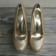 Bamboo Shimmer Gold Heels