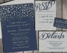 Starry Night Wedding Invitations & RSVP Postcards by chitrap                                                                                                                                                                                 More
