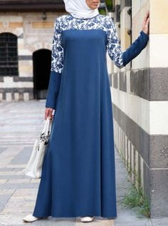 SHUKR's long dresses and abayas are the ultimate in Islamic fashion. Abaya Mode, Mode Hijab, Abaya Designs, Muslim Women Fashion, Islamic Fashion, Latest African Fashion Dresses, African Print Fashion, Abaya Fashion, Modest Fashion