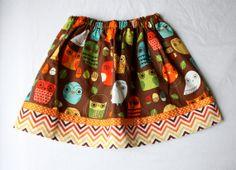 Critter Community Little Girl's Skirt  Cool Retro by bizzyandboo, £18.00