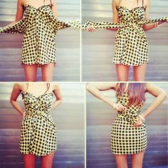 how to make a dress out of a shirt! omg biying for this I LOVE dresses! ; 3 xoxo #lovesit