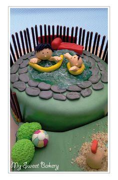 Schwimmbad Torte