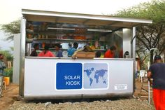 SOLARKIOSK is the first solar-powered autonomous unit that has opened for business in Ethiopia.