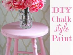 """DIY Chalk """"Style"""" Paint - Momtastic Need to show this to John so the desk can finally be finished."""