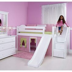 Girls Loft with stairs and slide