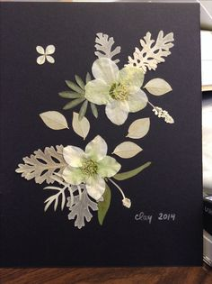 And here we have the Lenton rose pressed flower art with no glare.