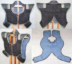 Antique Edo period samurai manju-no-wa (short armored vest).