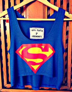 Crop Top - Superman - Cam Shirts