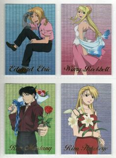 Ed and Winry. Roy and Riza-Fullmetal Alchemist