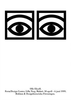 Olle Eksell Cocoa Eyes Poster 1999 Mid by VisuelleUnterhaltung