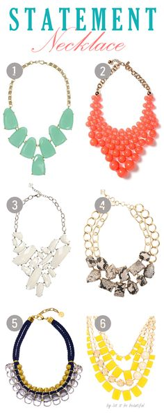 Statement necklaces can be just the pop of personality you need to make a dull outfit your own