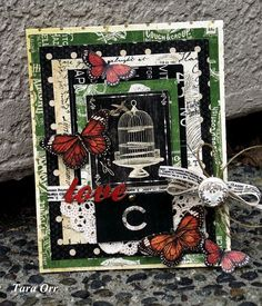 Love Card by @Tara Orr Products used: Olde Curiosity Shoppe by #Graphic45