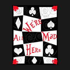 Alice in Wonderland Disney We're All Mad Here Mad Tea Party