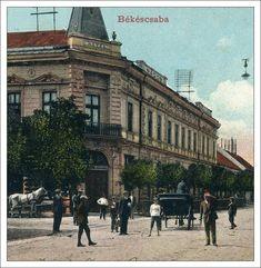 Békéscsaba On Old Postcards World Coins, Rare Coins, Old Postcards, Ephemera, Medieval, Greek, Louvre, Street View, Building