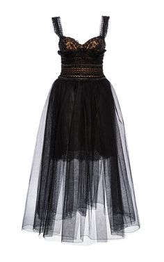 Embroidered Tea Length Dress by MARCHESA for Preorder on Moda Operandi