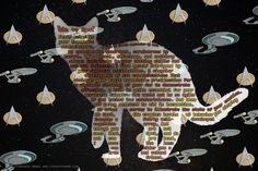 "Attention Sci-fi nerds: You can download this free printable poster immortalizing the cat poem ""An Ode to Spot"" by Data from Star Trek: The Next Generation. Use it as computer wallpaper or a stock image. From www.cleverfoxweb.com #graphicdesign #free #printable"