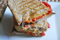 roasted red pepper smoked gouda grilled cheese