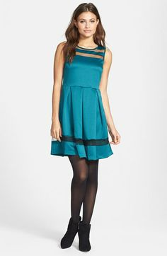 Sunday in Brooklyn Sheer Insert Fit & Flare Dress available at #Nordstrom