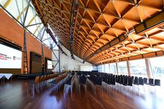 Images showing function centre adelaide function room options at National Wine Centre of Australia. For more information on function centre adelaide room c
