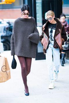 Kendall Jenner en Eudon Choi Zuzu et Hailey Baldwin à la Fashion Week de New York automne-hiver 2018-2019