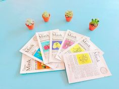 And the packaging looks like a lil' newspaper articles! TOO CUTE.Price: $15.79 (for a set of seven masks)