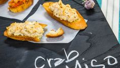 Looking for a simple yet delicious afternoon snack? Why not Hot Miso Crab Toasts!