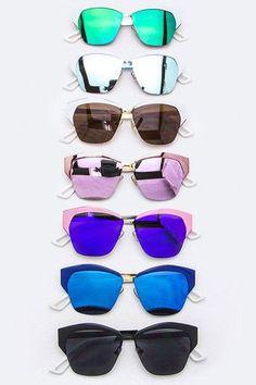 Browline Mirrored Sunglasses