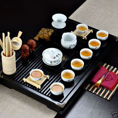 Complete-kung-fu-tea-set-porcelain-covered-tea-cup-strainer-solid-wood-tea-tray