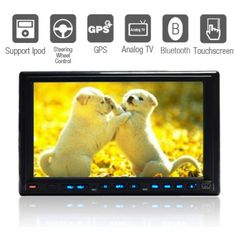 7 Inch 2Din Car DVD Player with GPS IPOD Bluetooth TV – US$ 189.99