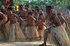 Dança tribal dos yawanawa