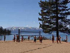Lake Tahoe beach scene