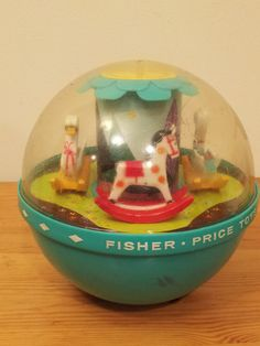 1960s Toy Roly Poly Chime Ball Fisher Price Toys Made in USA Baby Toddler Infant Music