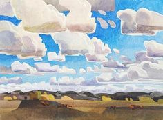 "Migrating Clouds by Carolyn Lord Watercolor ~ 22"" x 30"""