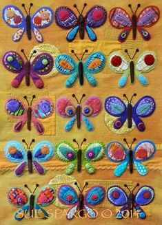 You have to see Butterfly Sampler by Sue Spargo!
