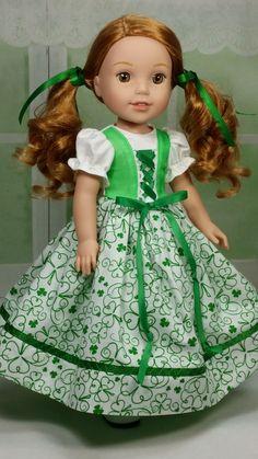 St. Patrick's Day Dress - DollClothesbyShirley