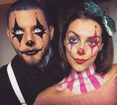 Couples Halloween  Makeup! For more ideas follow me @richelleashley and check out my *Trickn and Treatin* board!