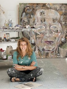 ICON PORTRAIT, MAGGIE, 2008 Objects, Portraits, Painting, Image, Art, Art Background, Head Shots, Painting Art, Kunst