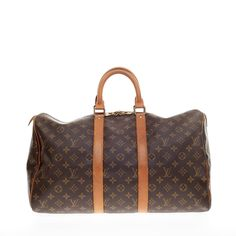 Louis Vuitton Keepall Monogram Canvas 45 - Designer Handbag - Trendlee