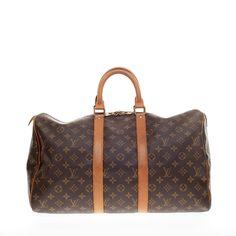Louis Vuitton Keepall Monogram Canvas 45 - Designer Handbag - Trendlee