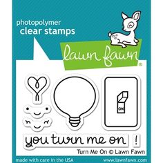 Lawn Fawn TURN ME ON Clear Stamps at Simon Says STAMP! Hehe!