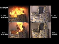 Open-Flame Furniture Test - YouTube