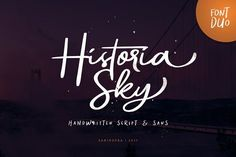Historia Sky - Font Duo by Sarid Ezra on @creativemarket