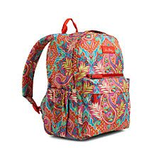 Not too big, not too small, this backpack is just right! Crafted in our lightweight, durable and water-resistant printed polyester, this style features a zip-around opening plus two front zip pockets and two side slip pockets. Its adjustable shoulder straps are padded for extra comfort.