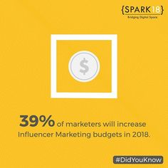"Spark Eighteen on Instagram: ""Influencer marketing, undoubtedly, helps the brands to engage with a larger chunk of audience, increasing the brand's sales substantially…"""