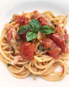 Spaghetti mit Speck und Zwiebel
