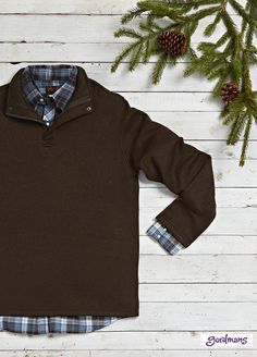 What to get dad? This button up and quarter zip sweater is perfect for Christmas. #gordmans