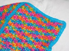 Rainbow Waves Baby Afghan Crochet Pattern 208 by SunsetCrochet, $1.99