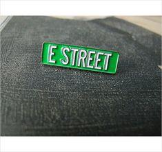 E Street - Bruce Springsteen & the E Street Band  Enamel Pin by Print Mafia®