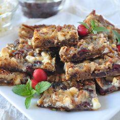 Barras de Biscoito Festivas - DiabeTV.  Experimente está deliciosa receita para seu lanche da tarde!